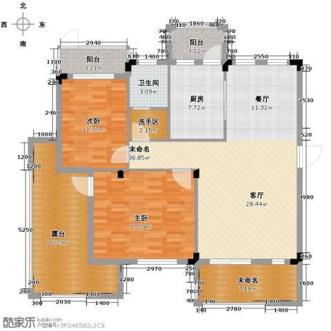鹏基诺亚山林三期2室0厅1卫1厨108.24㎡户型图