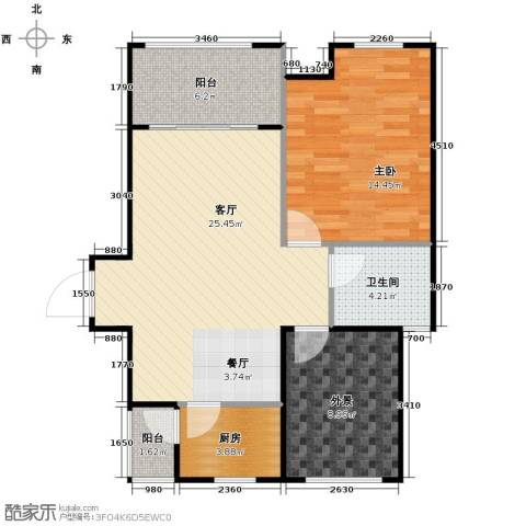 保亭上观园1室2厅1卫0厨72.00㎡户型图