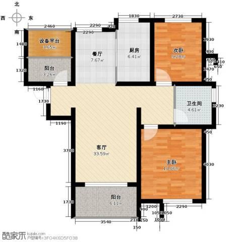 保利海上五月花2室2厅1卫0厨106.00㎡户型图