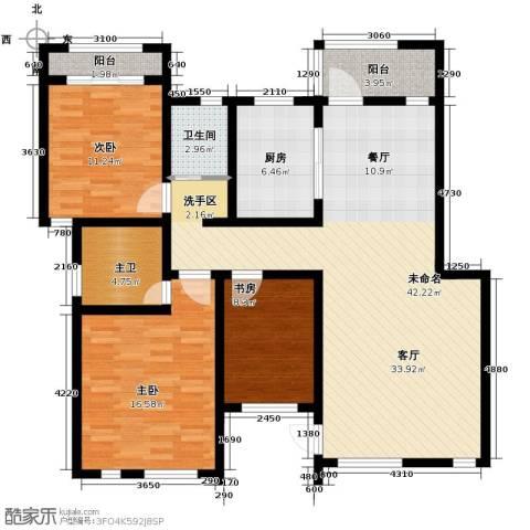 鹏基诺亚山林三期3室0厅1卫1厨129.00㎡户型图