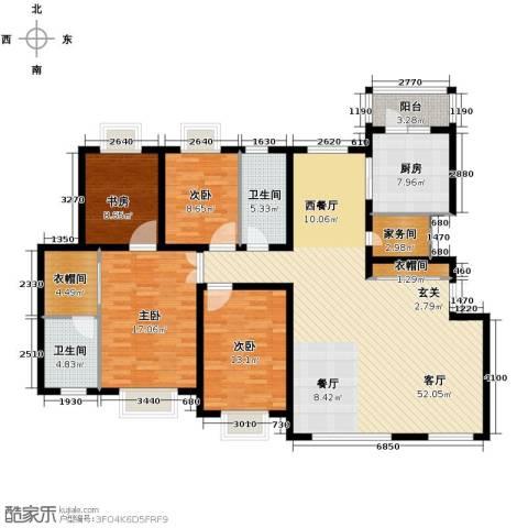 天安第一城4室2厅2卫0厨146.95㎡户型图