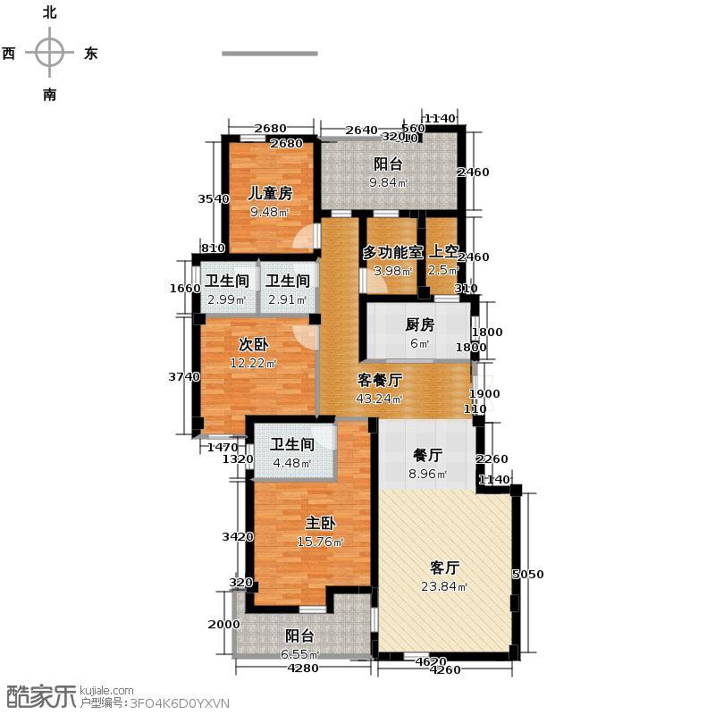融侨上院128.00㎡3F北辰户型3室2厅2卫
