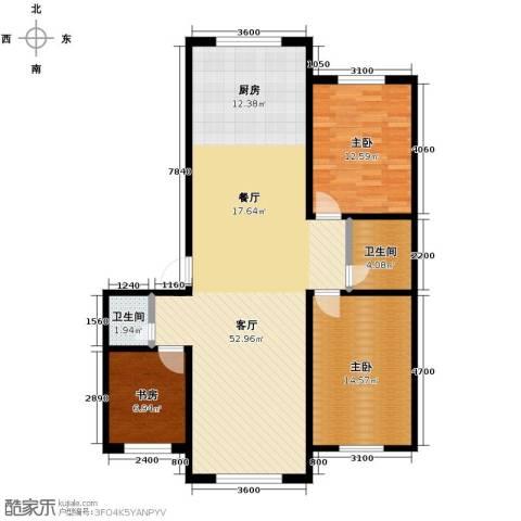 东方之珠龙翔苑3室2厅2卫0厨110.00㎡户型图