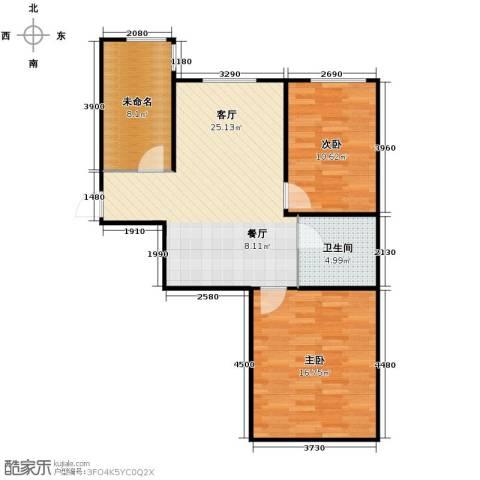 博众新城二期2室1厅1卫0厨74.00㎡户型图