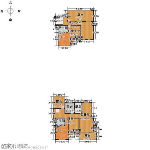 保利海上五月花2室1厅2卫1厨205.00㎡户型图