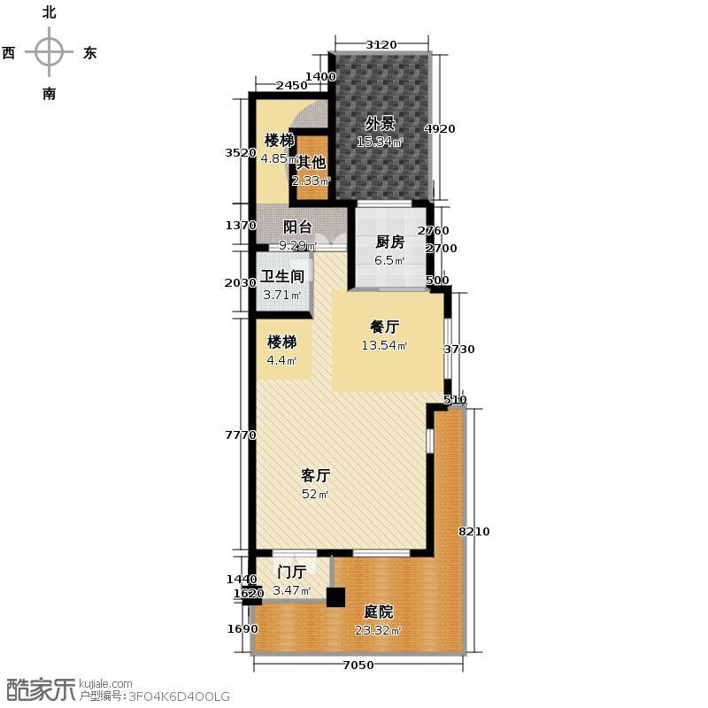 瑞景叶泊蓝山213.82㎡L1一层平面图户型4室2厅3卫