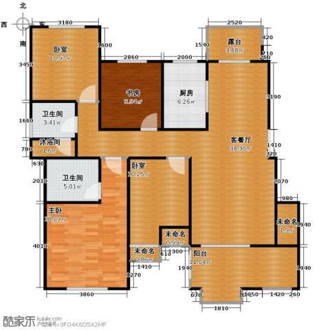 保利海上五月花2室1厅2卫1厨130.00㎡户型图