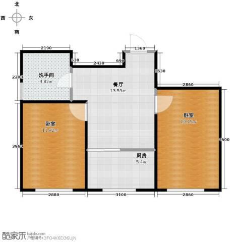 嘉惠红山郡2室1厅1卫0厨65.00㎡户型图
