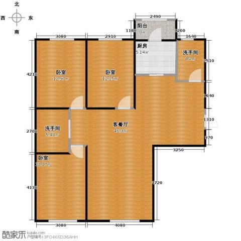 嘉惠红山郡3室2厅2卫0厨115.00㎡户型图