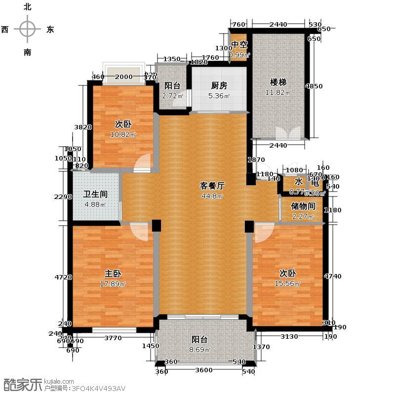 华瑞湘湖美地138.00㎡G4户型3室1厅1卫1厨