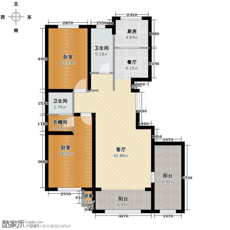 中意之尊148.50㎡I户型3室2厅2卫