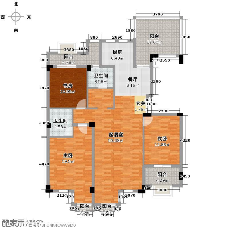 戈雅公寓143.92㎡户型3室2卫