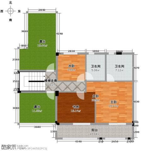 鹏基诺亚山林三期2室0厅2卫0厨187.00㎡户型图