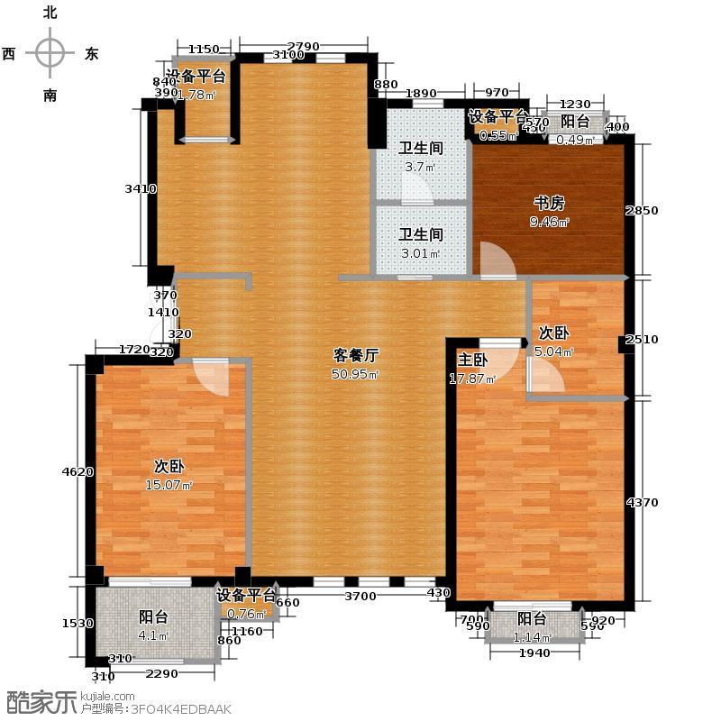 戈雅卡斯提亚126.70㎡户型4室1厅2卫