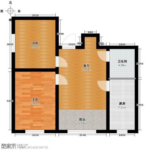 宇光万和城2室1厅1卫0厨73.00㎡户型图