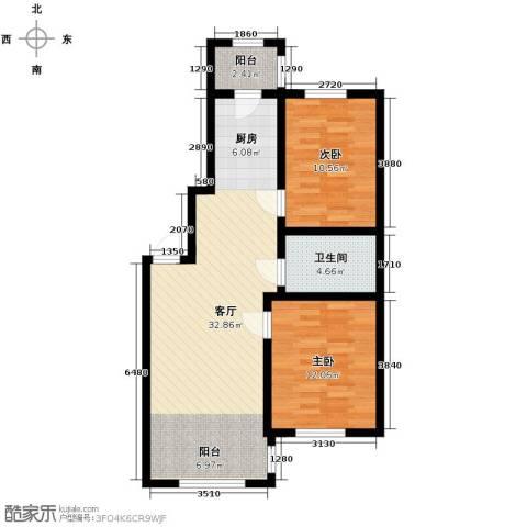 宇光万和城2室1厅1卫0厨88.00㎡户型图