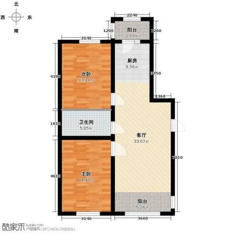 宇光万和城2室1厅1卫0厨98.00㎡户型图