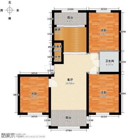 宇光万和城3室1厅1卫0厨117.00㎡户型图