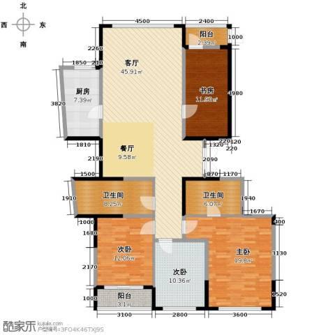 海威国际4室1厅2卫1厨168.00㎡户型图