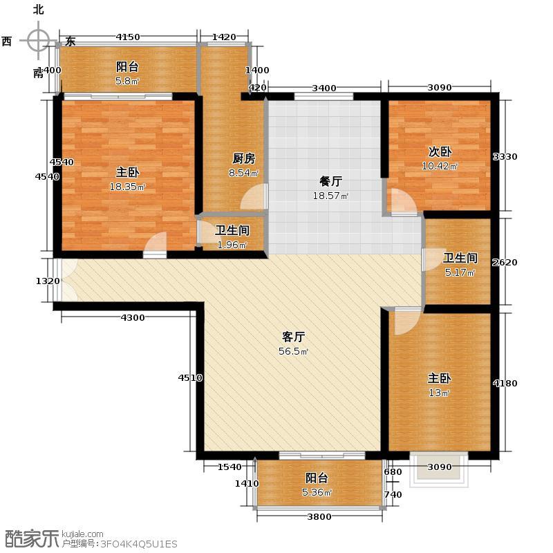新康花园176.91㎡5#D户型3室1厅2卫1厨