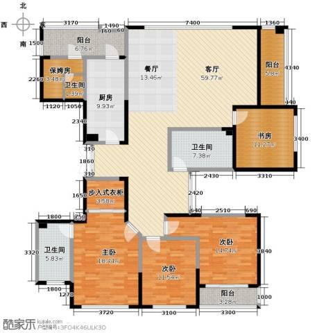 海威国际4室1厅3卫1厨208.00㎡户型图