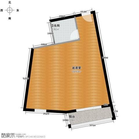 湘隆时代大公馆1卫0厨66.00㎡户型图