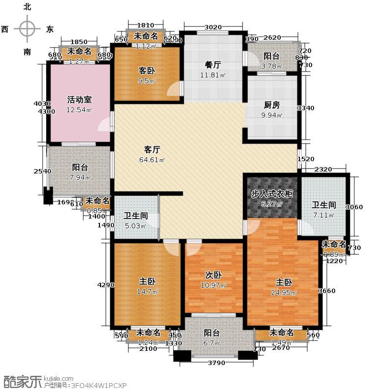 良渚文化村竹径茶语192.00㎡户型4室1厅2卫