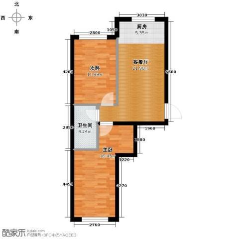 东方之珠龙翔苑2室1厅1卫0厨60.00㎡户型图