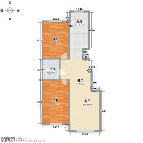 东方之珠龙翔苑2室2厅1卫0厨70.00㎡户型图