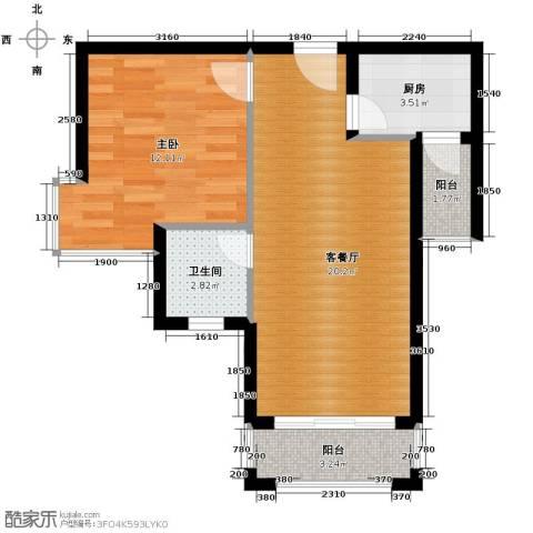 凯旋帝景1室1厅1卫1厨63.00㎡户型图