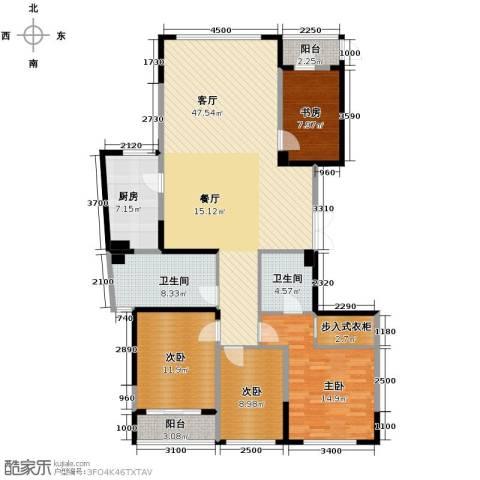 海威国际4室1厅2卫1厨159.00㎡户型图