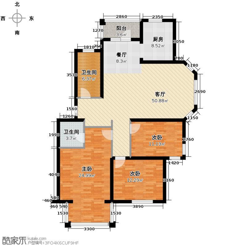 上院141.35㎡59D户型3室2厅2卫