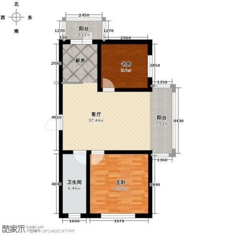 新龙城2室1厅1卫0厨94.00㎡户型图