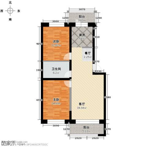 新龙城2室1厅1卫0厨105.00㎡户型图