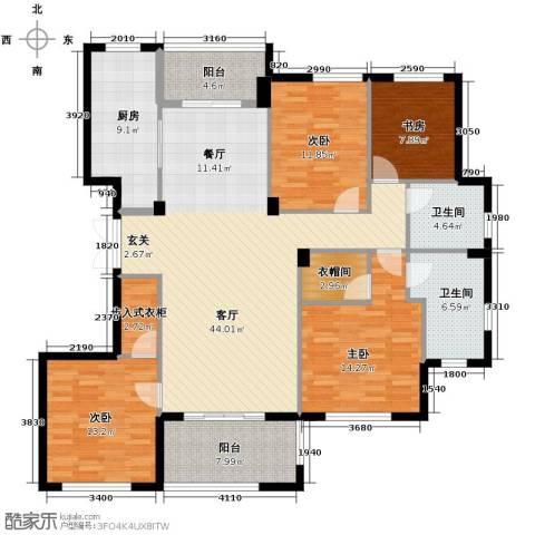 金溪园4室1厅2卫1厨156.00㎡户型图
