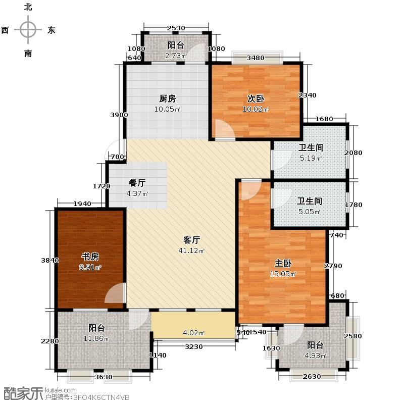 香树湾113.88㎡户型10室