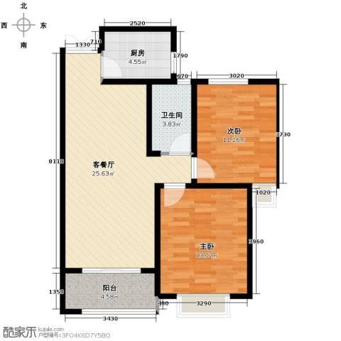 淮矿馥邦天下2室2厅1卫0厨87.00㎡户型图