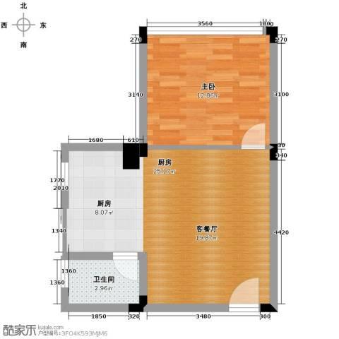 月亮湾草莓街区1室0厅1卫1厨56.00㎡户型图