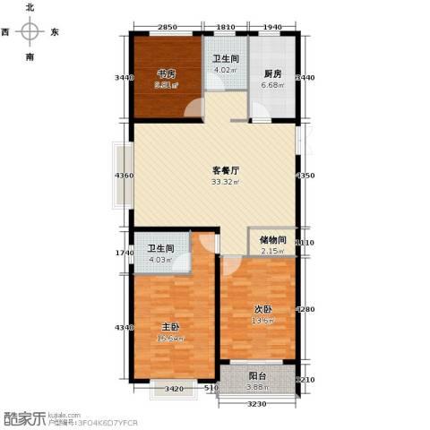 淮矿馥邦天下3室2厅2卫0厨126.00㎡户型图