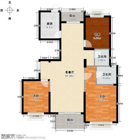 淮矿馥邦天下3室2厅2卫0厨128.00㎡户型图