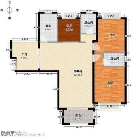 淮矿馥邦天下3室2厅2卫0厨123.00㎡户型图