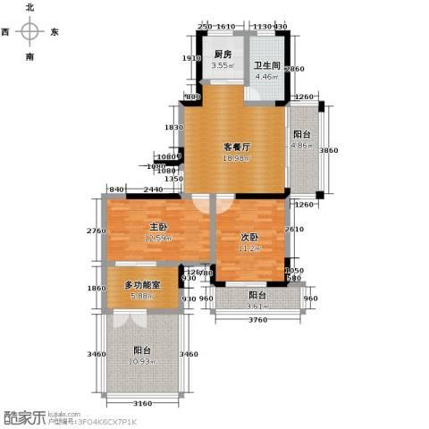 光盛豪庭3室2厅1卫0厨95.00㎡户型图