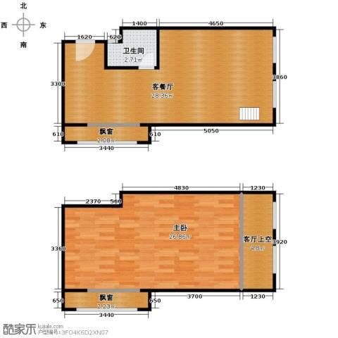 盈嘉上锋国际1室1厅1卫0厨67.04㎡户型图