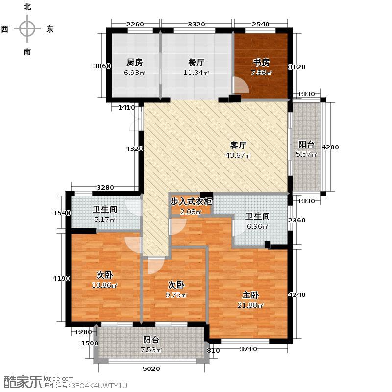 曙光之城165.00㎡H2奇数层户型4室1厅2卫1厨