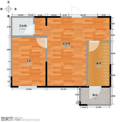 永安城1室1厅1卫0厨56.00㎡户型图