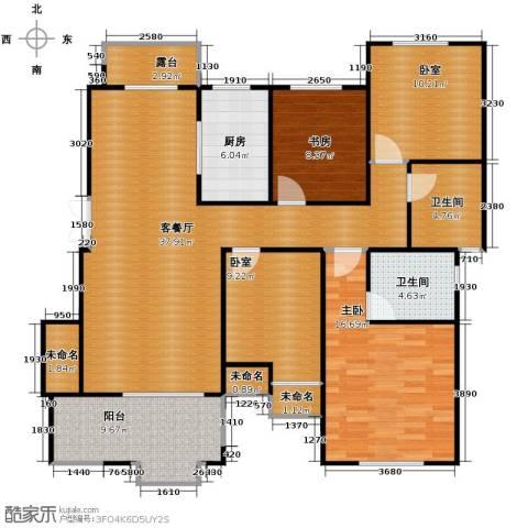 保利海上五月花2室1厅2卫1厨129.00㎡户型图