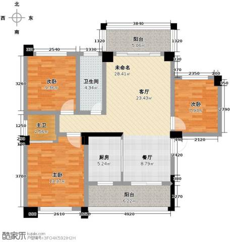 三景国际3室0厅1卫1厨113.00㎡户型图