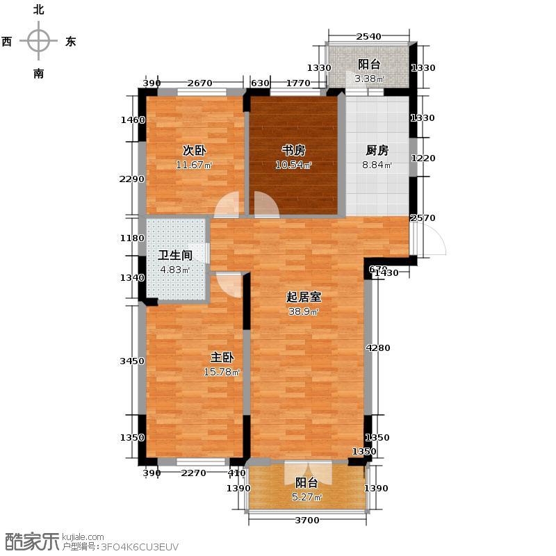 兰庭・中关村121.13㎡A区二期5号楼A户型3室2厅1卫
