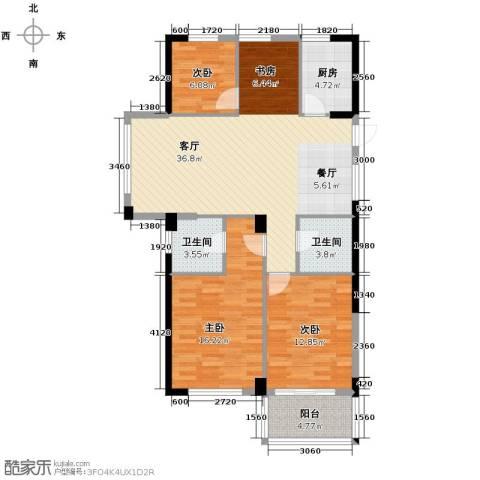 绿都四季华庭3室1厅2卫1厨89.00㎡户型图