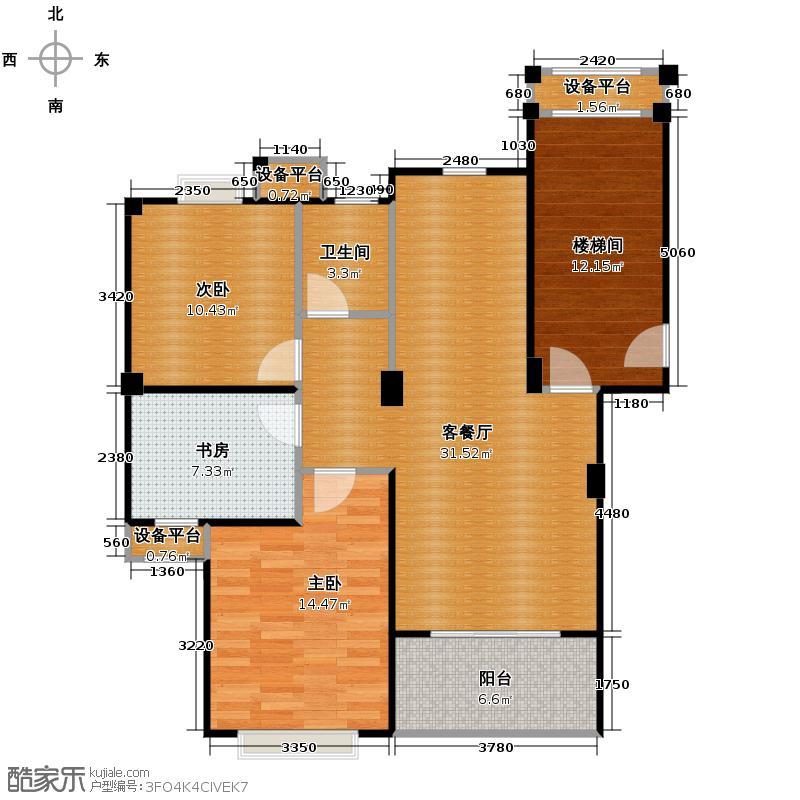 闲林山水别墅96.71㎡户型3室1厅1卫